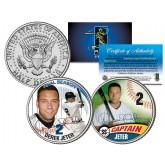 DEREK JETER - Final Season & Captain - JFK Kennedy Half Dollar Colorized 2-Coin Set