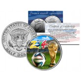 2014 BRAZIL WORLD CUP Soccer Football JFK Half Dollar US Coin - RARE TEST ISSUE