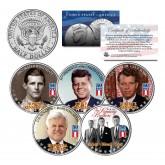 KENNEDY BROTHERS - John Robert Ted Joe - 2014 Anniversary JFK Half Dollar U.S. 5-Coin Set