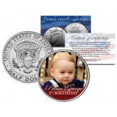PRINCE GEORGE * 1st Birthday * 2014 JFK Half Dollar US Colorized Coin ROYAL BABY