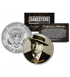 AL CAPONE Gangsters JFK Kennedy Half Dollar US Colorized Coin