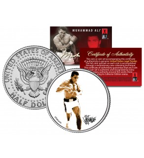 "MUHAMMAD ALI "" Full Pose "" JFK Kennedy Half Dollar U.S. Coin"
