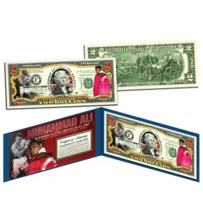 "MUHAMMAD ALI ""The Greatest"" Legal Tender U.S. $2 Bill - Officially Licensed"