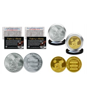 Apollo 11 50th Anniversary Man in Space Medals 2-Piece Commemorative NASA Coin Set