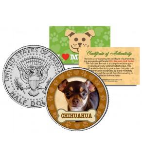 CHIHUAHUA Dog JFK Kennedy Half Dollar U.S. Colorized Coin