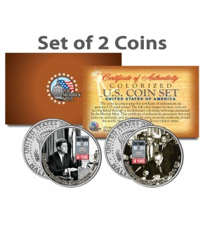 CIVIL RIGHTS ACT OF 1964 - 50th Anniversary - JFK Kennedy Half Dollar US 2-Coin Set