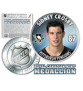 2005-06 SIDNEY CROSBY Royal Canadian Mint Medallion NHL FIRST EVER Rookie Coin - Officially Licensed