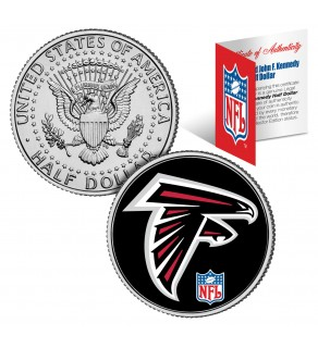 ATLANTA FALCONS NFL JFK Kennedy Half Dollar US Colorized Coin - Officially Licensed