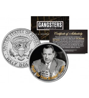 "FRANK COSTELLO ""The Prime Minister"" Gangsters JFK Kennedy Half Dollar US Colorized Coin"