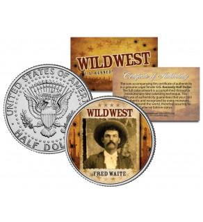 FRED WAITE - Wild West Series - JFK Kennedy Half Dollar U.S. Colorized Coin