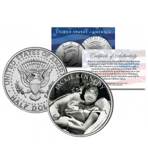 Jacqueline Kennedy Onassis JFK Kennedy Half Dollar US Coin - BW Signature