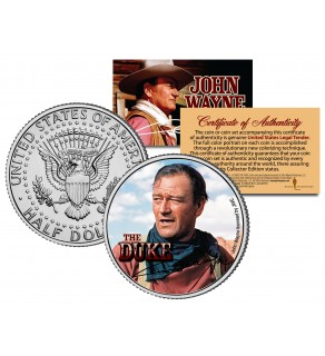 "JOHN WAYNE - THE DUKE "" The Searchers "" JFK Kennedy Half Dollar US Coin - Officially Licensed"