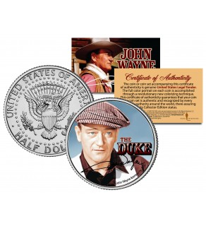 "JOHN WAYNE - THE DUKE "" The Quiet Man "" JFK Kennedy Half Dollar US Coin - Officially Licensed"
