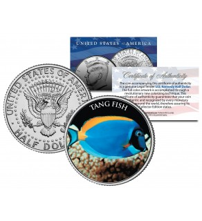 TANG FISH - Tropical Fish Series - JFK Kennedy Half Dollar U.S. Colorized Coin