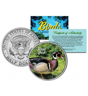 WOOD DUCK Collectible Birds JFK Kennedy Half Dollar Colorized US Coin CAROLINA