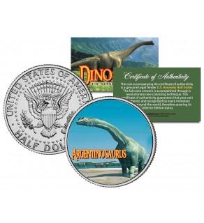 ARGENTINOSAURUS Collectible Dinosaur JFK Kennedy Half Dollar US Colorized Coin
