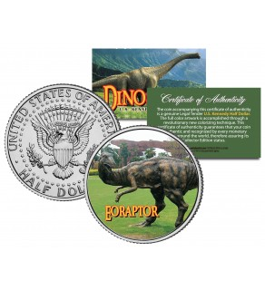 EORAPTOR Collectible Dinosaur JFK Kennedy Half Dollar U.S. Colorized Coin