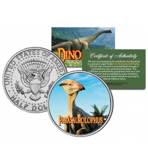 PARASAUROLOPHUS Collectible Dinosaur JFK Kennedy Half Dollar US Colorized Coin
