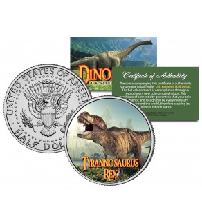 TYRANNOSAURUS T. REX Collectible Dinosaur JFK Kennedy Half Dollar US Colorized Coin