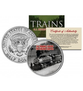 LA LIMITED EINSTEIN EXPRESS - Famous Trains - JFK Kennedy Half Dollar U.S. Colorized Coin