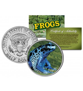 POISON DART FROG Collectible Frogs JFK Kennedy Half Dollar US Colorized Coin