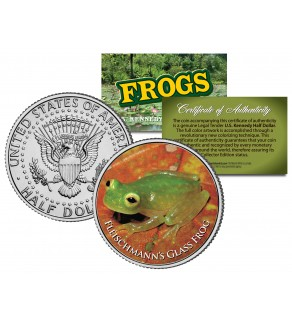 FLEISCHMANN'S GLASS FROG Collectible Frogs JFK Kennedy Half Dollar US Coin