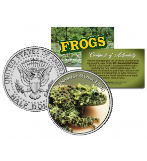 VIETNAMESE MOSSY FROG Collectible Frogs JFK Kennedy Half Dollar US Colorized Coin