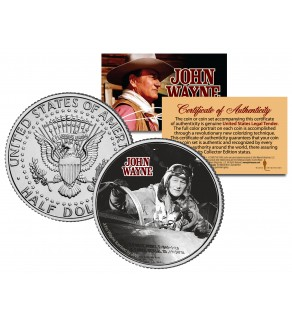 "JOHN WAYNE - MOVIE "" Jet Pilot "" JFK Kennedy Half Dollar US Coin - Officially Licensed"