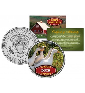 DUCK Collectible Farm Animals JFK Kennedy Half Dollar U.S. Colorized Coin