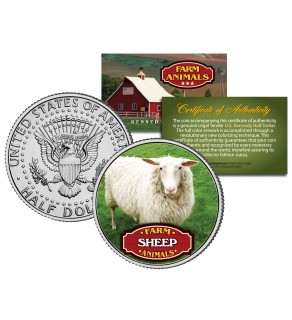 SHEEP Collectible Farm Animals JFK Kennedy Half Dollar U.S. Colorized Coin