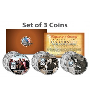 John F. Kennedy - 50th ANNIVERSARY of the ASSASSINATION - JFK Kennedy Half Dollar 3-Coin Set