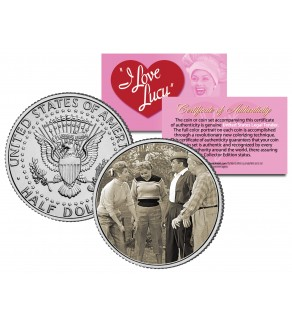 I Love Lucy - Golf Game - JFK Kennedy Half Dollar US Coin - Lucille Ball - Officially Licensed