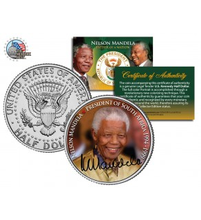 NELSON MANDELA - President of South Africa - JFK Kennedy Half Dollar US Coin