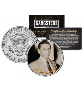 MEYER LANSKY Gangsters JFK Kennedy Half Dollar US Colorized Coin