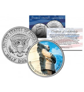 MARTIN LUTHER KING JR. MEMORIAL - Washington D.C. - JFK Kennedy Half Dollar U.S. Coin