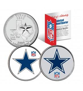 DALLAS COWBOYS - Retro & Team Logo - Texas Quarters 2-Coin U.S. Set - NFL Officially Licensed