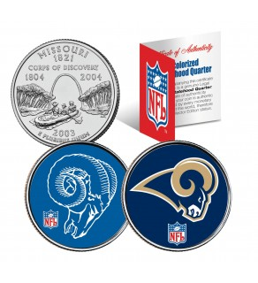 ST LOUIS RAMS - Retro & Team Logo - Missouri Quarters 2-Coin U.S. Set - NFL Officially Licensed