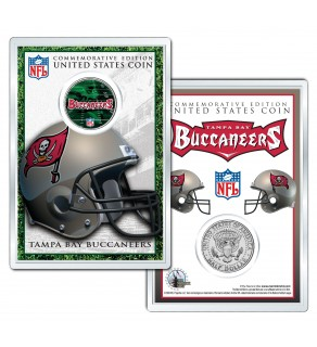TAMPA BAY BUCCANEERS Field NFL Colorized JFK Kennedy Half Dollar U.S. Coin w/4x6 Display