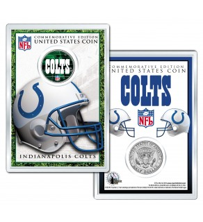 INDIANAPOLIS COLTS Field NFL Colorized JFK Kennedy Half Dollar U.S. Coin w/4x6 Display