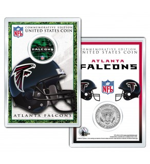 ATLANTA FALCONS Field NFL Colorized JFK Kennedy Half Dollar U.S. Coin w/4x6 Display