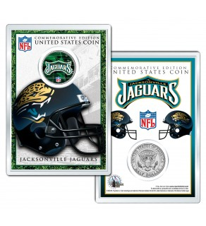 JACKSONVILLE JAGUARS Field NFL Colorized JFK Kennedy Half Dollar U.S. Coin w/4x6 Display