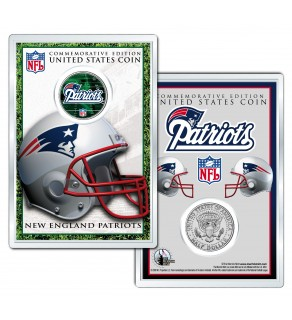 NEW ENGLAND PATRIOTS Field NFL Colorized JFK Kennedy Half Dollar U.S. Coin w/4x6 Display