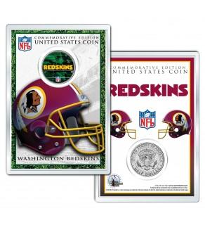 WASHINGTON REDSKINS Field NFL Colorized JFK Kennedy Half Dollar U.S. Coin w/4x6 Display