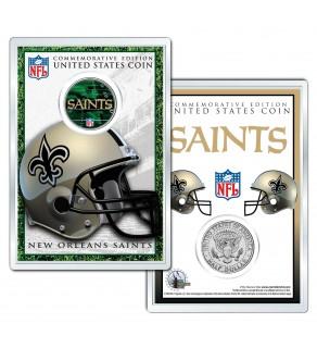 NEW ORLEANS SAINTS Field NFL Colorized JFK Kennedy Half Dollar U.S. Coin w/4x6 Display
