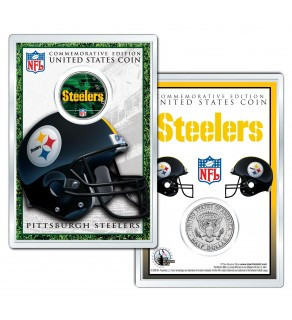 PITTSBURGH STEELERS Field NFL Colorized JFK Kennedy Half Dollar U.S. Coin w/4x6 Display