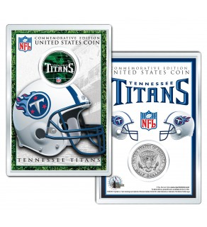TENNESSEE TITANS Field NFL Colorized JFK Kennedy Half Dollar U.S. Coin w/4x6 Display