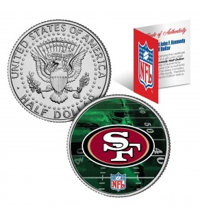 SAN FRANCISCO 49ERS Field JFK Kennedy Half Dollar US Colorized Coin - NFL Licensed