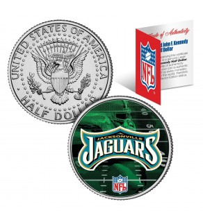 JACKSONVILLE JAGUARS Field JFK Kennedy Half Dollar US Colorized Coin - NFL Licensed