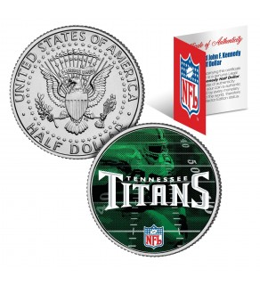 TENNESSEE TITANS Field JFK Kennedy Half Dollar US Colorized Coin - NFL Licensed