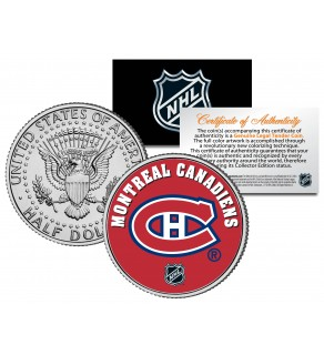 MONTREAL CANADIENS NHL Hockey JFK Kennedy Half Dollar U.S. Coin  - Officially Licensed
